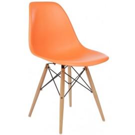 Стул Paris wood Primel оранжевый ноги дерево