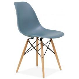 Стул Paris wood Primel серо-голубой ноги дерево