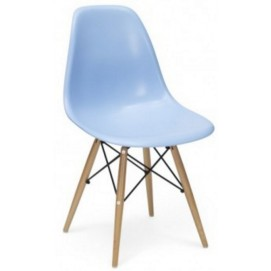 Стул Paris wood Primel голубой light blue ноги дерево