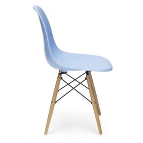 Стул Paris wood Primel голубой light blue ноги коричневые