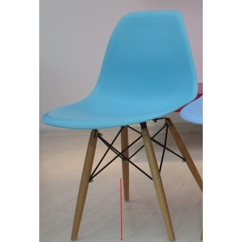 Стул Paris wood Primel голубой ocean blue ноги коричневые