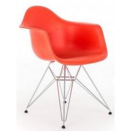 Кресло Paris красное Primel ноги металл