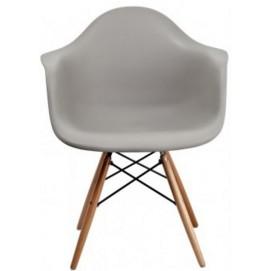 Кресло Paris серый Primel ноги дерево