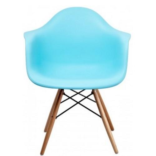 Кресло Paris wood голубой ocean blue ноги дерево Primel