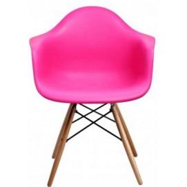 Кресло Paris wood розовое dark pink ноги дерево Primel