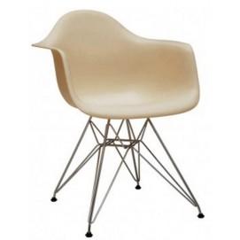 Кресло Paris бежевое Primel ноги металл
