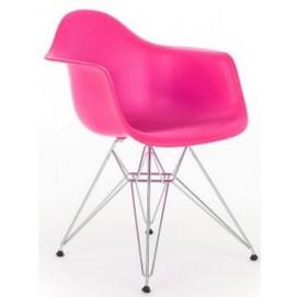 Кресло Paris розовое Primel ноги металл