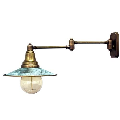 Светильник настенный 2091 зеленая патина Pikart