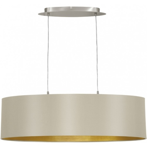 Лампа подвесная Eglo MASERLO 31613 бежевая