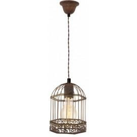 Лампа подвесная Eglo HARLING 49217 коричневая