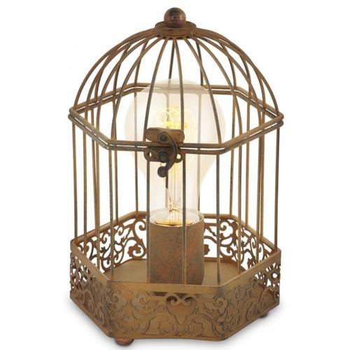 Лампа настольная Eglo HARLING 49287 коричневая