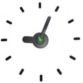 Часы настенные черные ON TIME с цветной серединой 00-2403