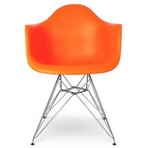 Кресло Тауэр оранжевое ноги металл Mebelmodern