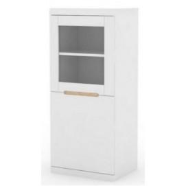 Витрина FUNKY 126 cm белая Home Design 91752-2
