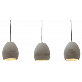 Лампа комплект из 3 ламп Old Style 12cm (Z36242) серая Invicta