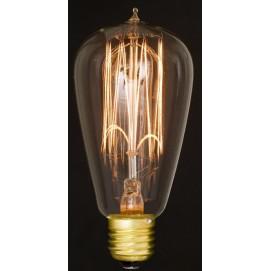 Лампа Эдисона ST64 40W/60W Clear прозрачное стекло