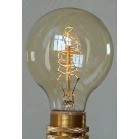 Лампочка Эдисона E27 G80 X-ed 40Вт Amber янтарное стекло