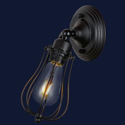 Светильник настенный 748MB201-1 BK черный Thexata