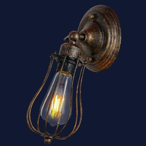 Светильник настенный 748MB201-1 BK+GD медь Thexata
