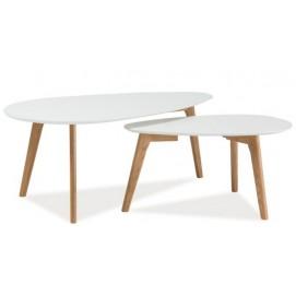 Набор столиков 2 шт Milan L2 белый Signal