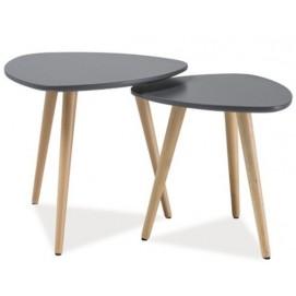 Набор столиков 2 шт Nolan A серый Signal в наличии белый цвет