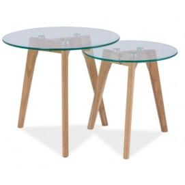 Набор столиков 2шт Oslo S2 стекло Signal