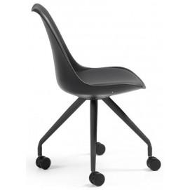 Кресло офисное черное C975U01 - LARS Chair Leg Epoxy Seat Plastic Black U01 Laforma