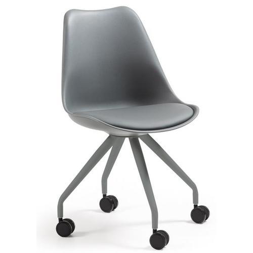 Кресло офисное серое C975U03 - LARS Chair Leg Epoxy Seat Plastic Grey U03 Laforma