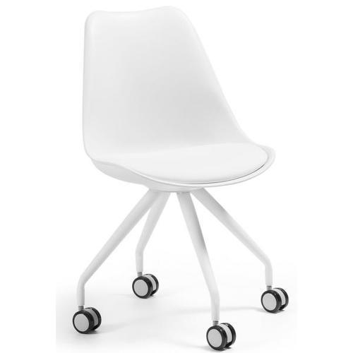 Кресло офисное белое C975U05 - LARS Chair Leg Epoxy Seat Plastic Pure White U05 Laforma