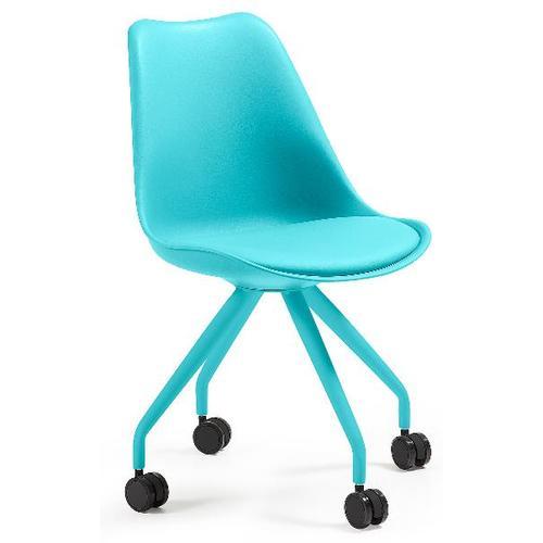 Кресло офисное голубое C975U26 - LARS Chair Leg Epoxy Seat Plastic Blue U26 Laforma