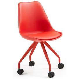 Кресло офисное красное C975U04 - LARS Chair Leg Epoxy Seat Plastic Red U04 Laforma
