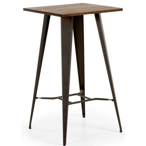 Стол барный черный C805R02 - MALIBU Table 60x60 см Laforma черный