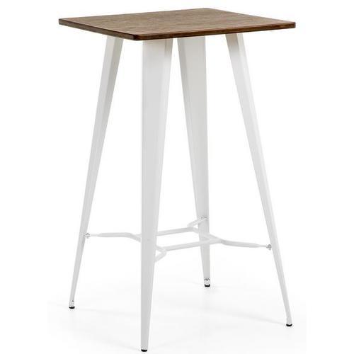 Стол барный белый C805R05 - MALIBU Table 60x60 см Laforma белый
