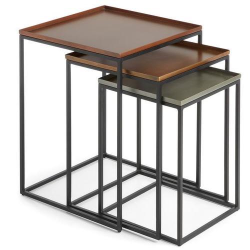 Набор столиков AA0144R35 - VERTIG F Laforma медь