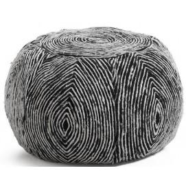 Пуф черно-белый AA0327J01 - SHERM Laforma
