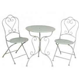 Комплект стол и 2 стула 5Y0129 белый