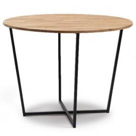 Стол обеденный круглый чёрный Cube 44