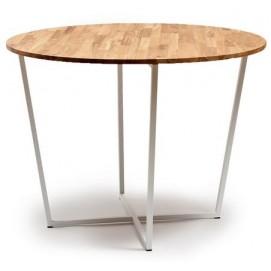 Стол обеденный круглый белый Cube 44