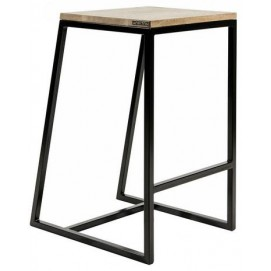 Полубарный стул horizon черный Cube 44