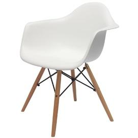 Кресло AC-018W белое Kordo ноги дерево