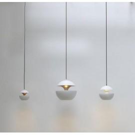 Лампа подвесная К 9017-3 белый +золото 25 см Loft