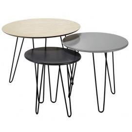Набор из 3 столиков Graphik 155600 Maisons серый
