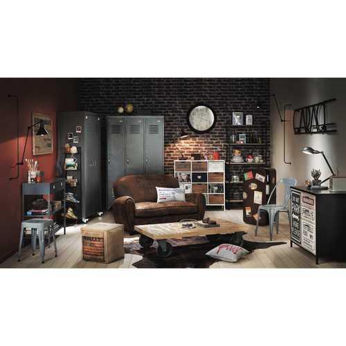 Шкаф 3-дверный Loft 120 см 147080 Maisons серый
