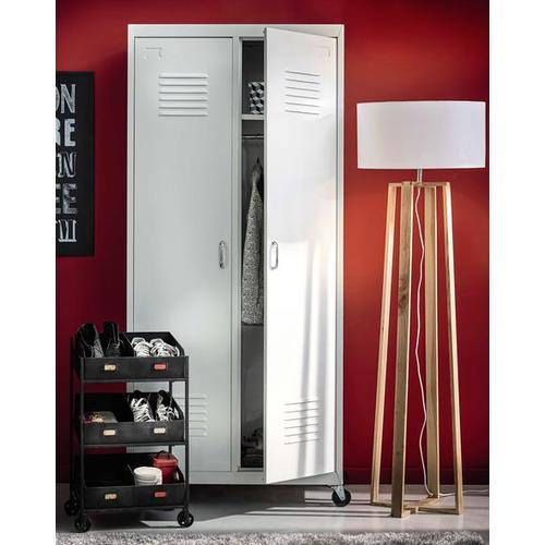 Шкаф 2-дверный Loft белый 85 см 155928 Maisons