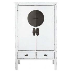 Шкаф 2-дверный Shanghaï белый 117 см 116006 Maisons