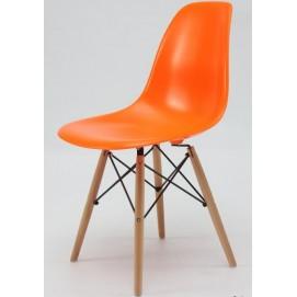 Стул AC-016W оранжевый Kordo ноги дерево