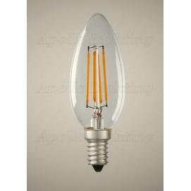 LED лампочка Эдисона С35 4W 4000К 320Lm Clean прозрачное стекло