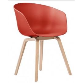 Кресло AAC22 пластик красный ICOO
