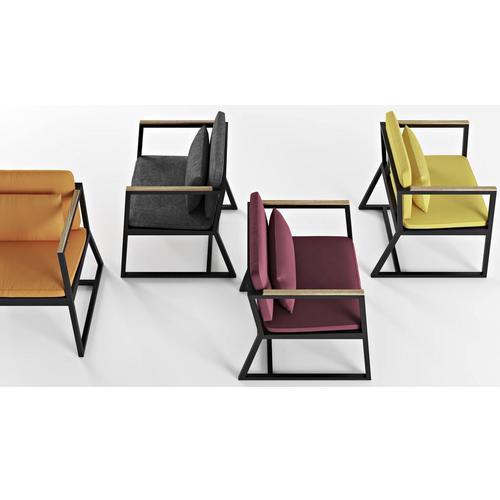Кресло Horizon серое Cube 44