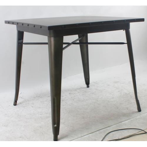 Стол обеденный Tolix MC-80х80 черный Primel